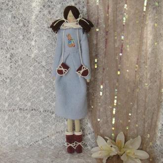 Кукла в стиле Тильда Снежана плюс БЕСПЛАТНЫЙ ПОДАРОК