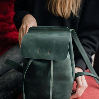 Шкіряний рюкзак, рюкзак из кожи, городской рюкзак, рюкзак на стяжке