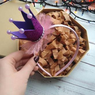 Фиолетовая корона на новый год