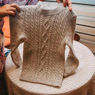свитер на мальчика 5 лет  с красивым узором