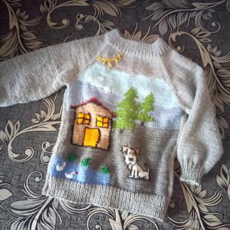 Вязанный свитерок на мальчика.