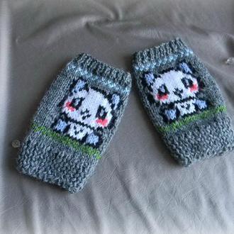 Митенки маленькие Панда