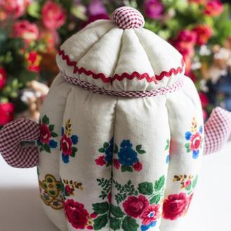 Чайник-шкатулка из платка ручной работы