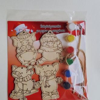 Новогодние игрушки раскраски