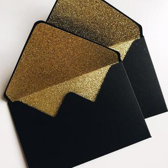 Виготовлення конвертів з глітерним вкладишем