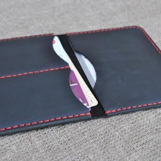 Черный чехол для водительских документов D11-0+red