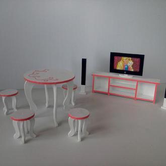 Набор мебели для кукол Барби/ Кукольная мебель/ Мебель для барби