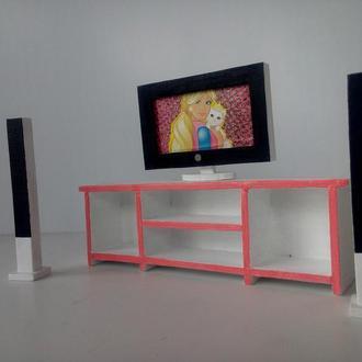 Домашний кинотеатр для Барби/ Мебель для кукол и кукольных домиков