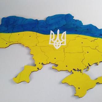 Развивающий пазл Карта Украины. Подарочный сувенир