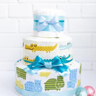 Торт из памперсов / подгузников. Памперсный торт