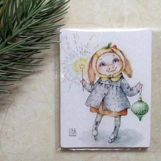 Магнитик новогодний со свинкой Сувенир символ года 2019 Свинья Кабан корпоративные подарки