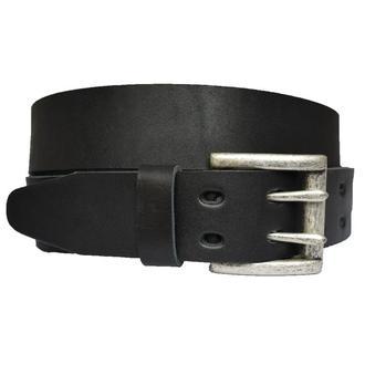 Dual кожаный мужской ремень черный пояс классический для джинсов пасок ремінь