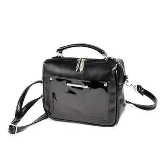Сумка-чемоданчик с лаковым карманом Мини