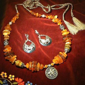 Ожерелье и серьги Скифские грифоны