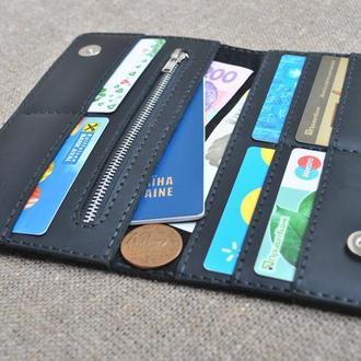 Вместительный черный кошелек K27m-0
