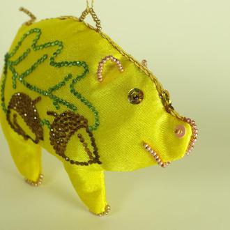 Символ 2019 свинка новорічна іграшка подарунок на Миколая, Різдво.