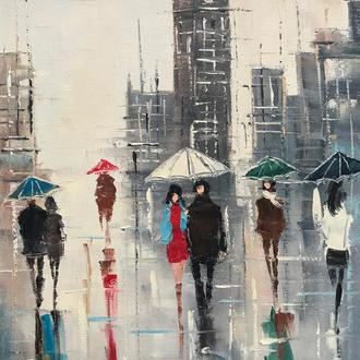 """Городской пейзаж """"Дождливый день"""""""