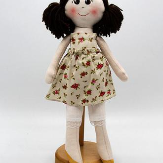 Мягкая игрушка «Кукла Настенька (коричневые волосы)»