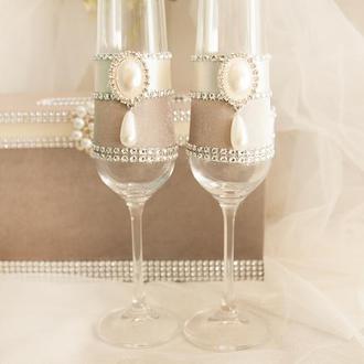 """Свадебные бокалы """"Платина"""""""