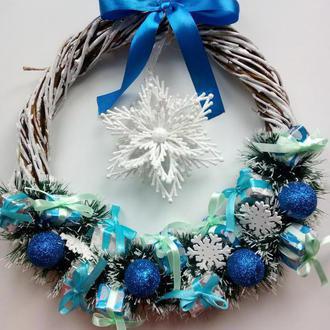 Різдвяний декор,  Різдвяний віночок,  Новорічний декор, Новорічний віночок