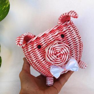 Свинка корзинка Свинка символ 2019 года Подарок на Новый Год