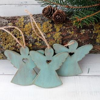 Рождественские ангелы- декор для елки