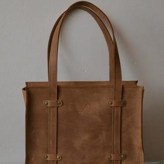Женская сумочка из натуральной кожи Crazy horse. Натуральная кожа