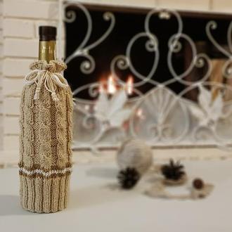 Декор бутылок, Упаковка, украшение для новогодней бутылки