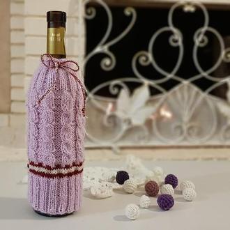 Декор бутылок, Упаковка на бутылку, украшение для новогодней бутылки, прикольный аксессуар