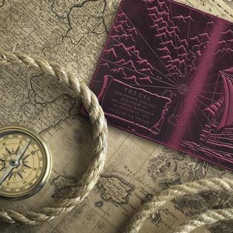 "Обложка для паспорта  HiArt PC-02 Shabby Plum ""Discoveries"""