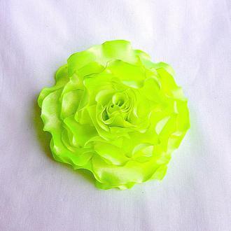 """Брошь из ткани - лимонные цветы - """"Лимонные розы и гвоздики"""""""