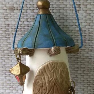 """Коллекционный керамический  колокольчик """"Старая башня"""""""