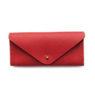 Кожаный кошелек Simple красного цвета