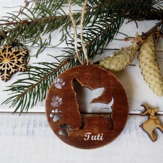 Новогодняя игрушка Йоркширский террьер