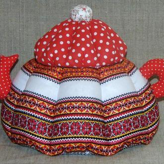 Грелка для чайника с вышивкой