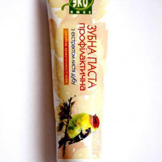 Натуральная зубная паста с экстрактом листьев дуба