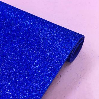 Фоамиран глиттер, синий, 21*30 см   № 01001