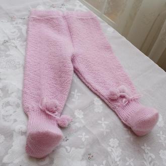 повзунки рожеві на дівчинку до 6 міс