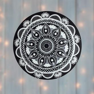 Настенный декор Черно-белая Мандала