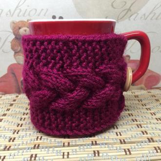 Чехол на  чашку, грелка - теплушка, свитер на чашку