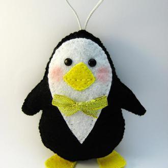Фетровый пингвин фетр игрушка