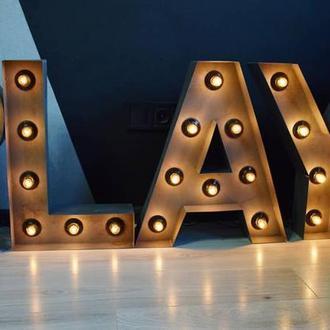 Интерьерные буквы, слова, символы сподсветкой