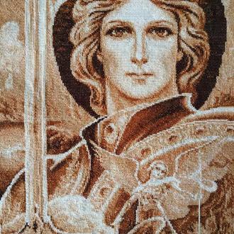 Картина вышитая крестиком ′Архангел Михаил′
