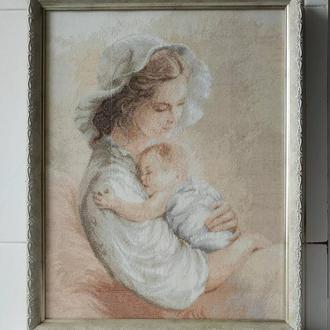 Картина вышитая крестиком ′Мамина нежность′