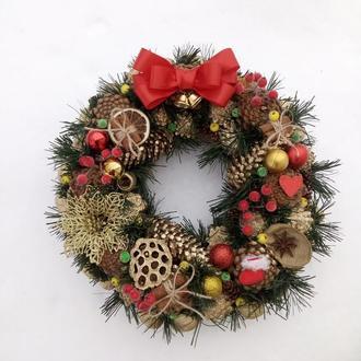 Рождественский новогодний венок 10