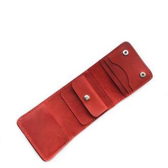 Женский кожаный кошелек Small красного цвета