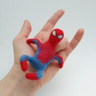 Мягкая игрушка-брелок. Человек-паук.