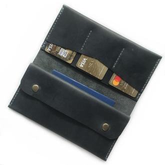 Кожаное портмоне Minimal серого цвета