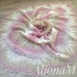 Ажурная шаль Цветочная