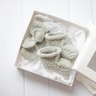 Комплект повязка и пинетки